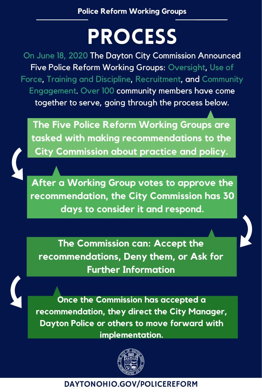 Police Reform Working Group Process Infographic