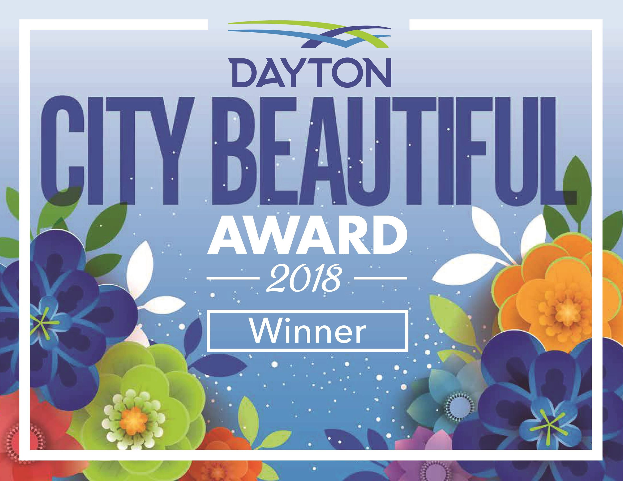 City Beautiful Award Sign 2018 - Winner