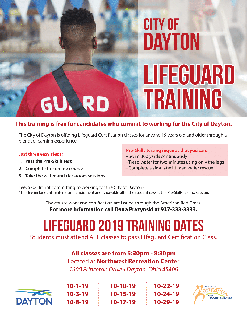 Lifeguard Training Flyer