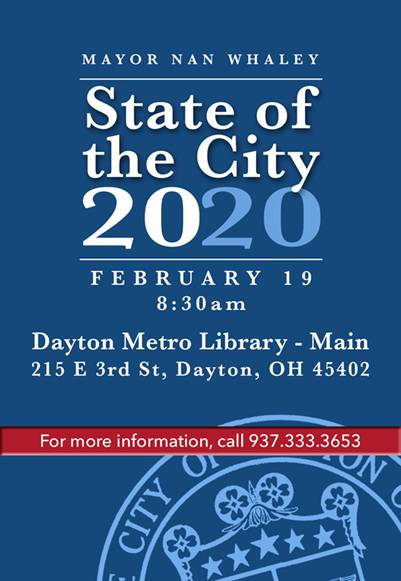 State of the City 2020 Flier